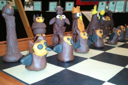 Fimo Owl Chess Set