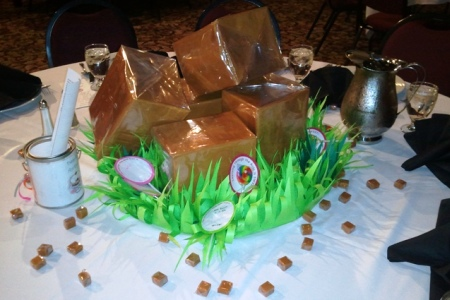 Giant Caramels Centerpiece