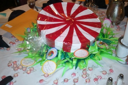 Giant Peppermint Candies Centerpiece